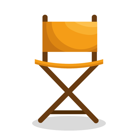 director chair: A director chair isolated icon vector illustration design