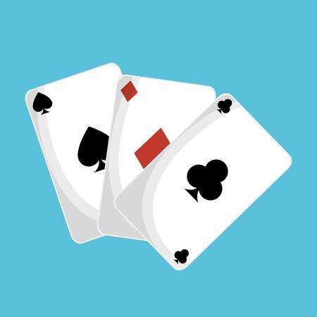 A poker cards casino icon vector illustration design