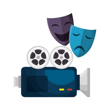 A cinema entertainment elements icons vector illustration design