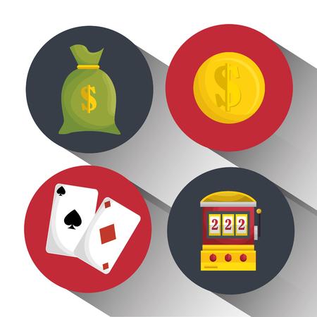 casino entertaintment set icons vector illustration design