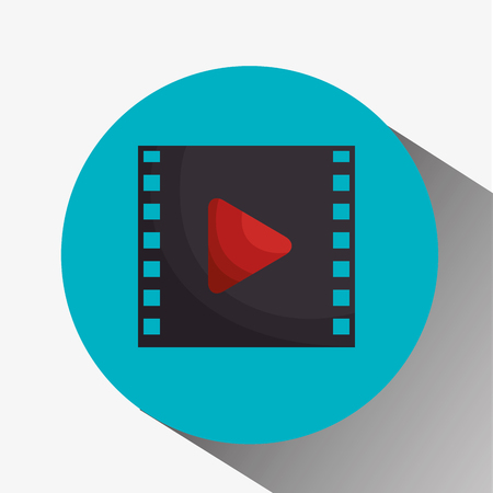 media film tape pictogram vector illustratie ontwerp Stock Illustratie