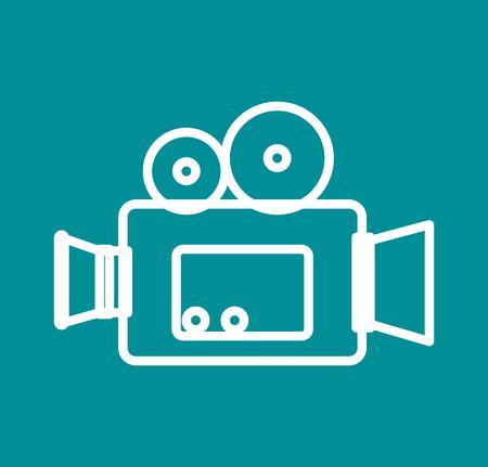 Caméra vidéo cinéma icône illustration vectorielle conception Banque d'images - 77381362