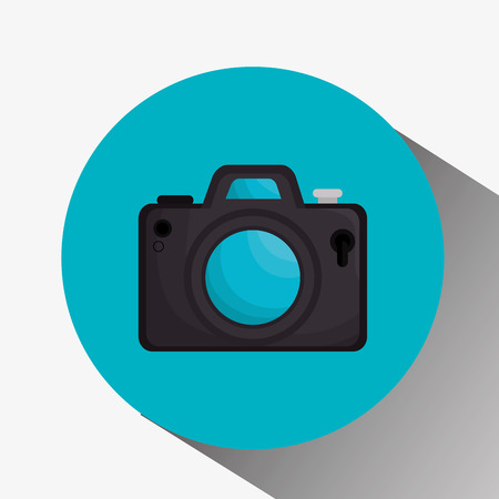 Photography camera vector icon, vector illustration design