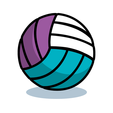 volleyball sport ball isolated icon vector illustration design Ilustrace