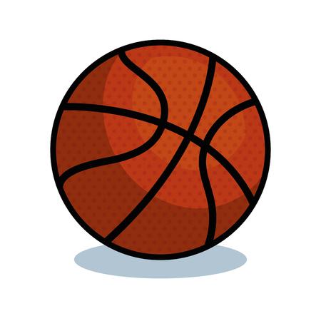 バスケット ボールのスポーツ ボール分離アイコン ベクトル イラスト デザイン