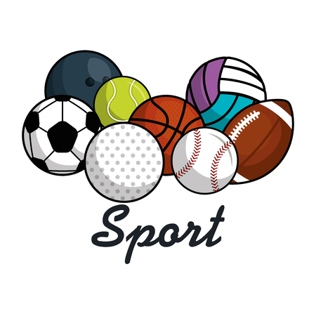 sport balls isolated icon vector illustration design