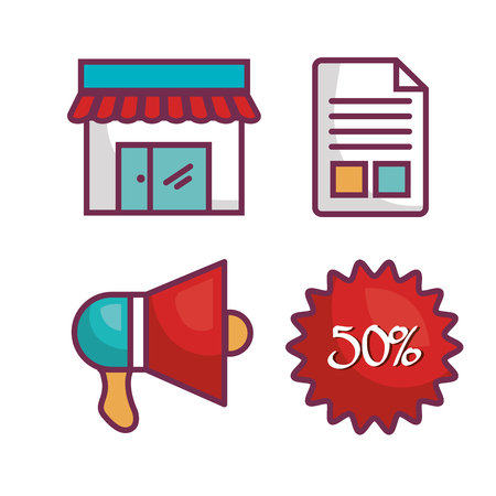 investment concept: commercial business flat icons vector illustration design Illustration