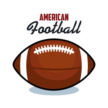 アメリカン ・ フットボール スポーツ ボール分離アイコン ベクトル イラスト デザイン  イラスト・ベクター素材