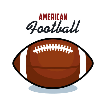 american football sport ball isolated icon vector illustration design Reklamní fotografie - 77402123