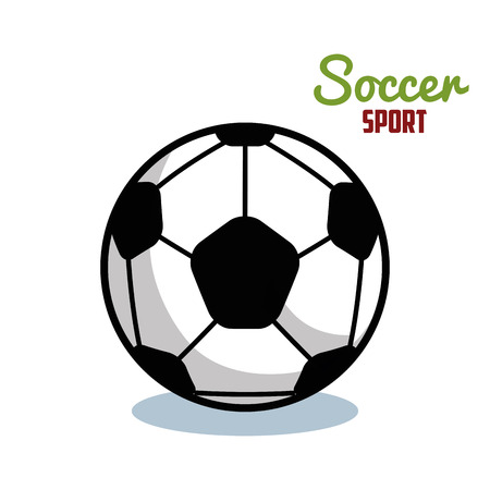 soccer sport ball isolated icon vector illustration design Çizim