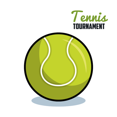 tennis sport ball isolated icon vector illustration design Reklamní fotografie - 77402125