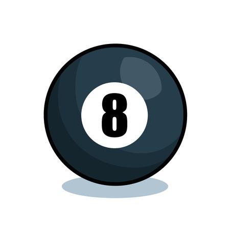 billiard balls isolated icon vector illustration design