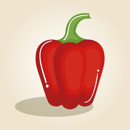 peper vers en gezond plantaardig vectorillustratieontwerp Stock Illustratie