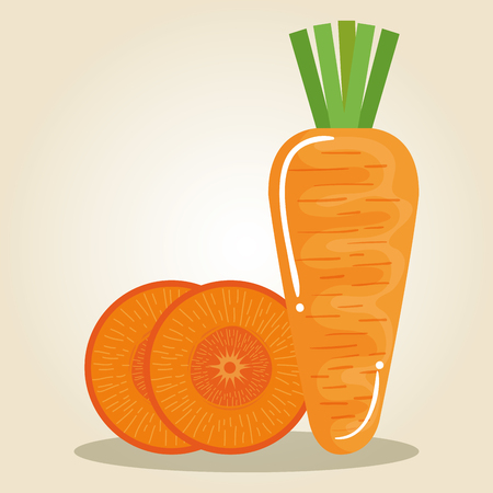 carrot fresh and healthy vegetable vector illustration design