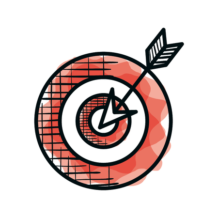target and arrow success vector illustration design