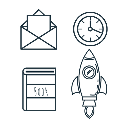 creative startup set icons vector illustration design