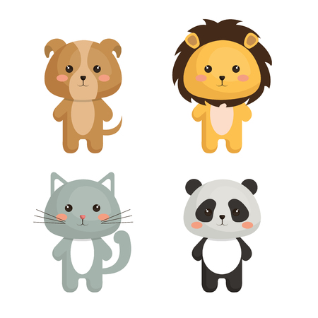 cute and tenders animals vector illustration design Illusztráció