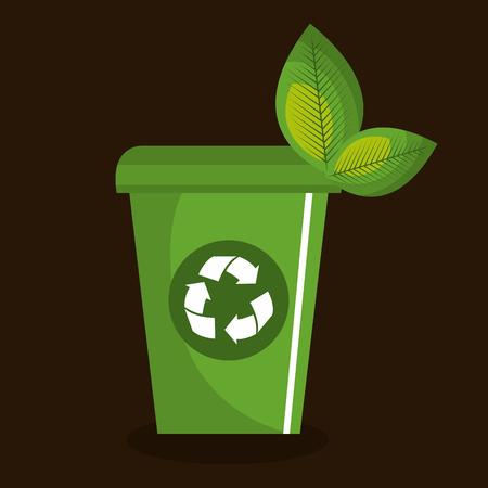 recycle bin ecology icon vector illustration design Illusztráció