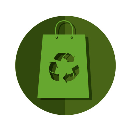 リサイクル シンボル ベクトル イラスト デザインのショッピング バッグ