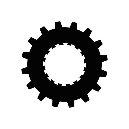 gear wheel icon over white background. vector illustration Stock Vector - 77424583
