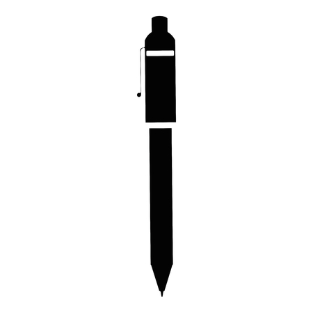 pen icon over white background. vector illustration Stok Fotoğraf - 77428836