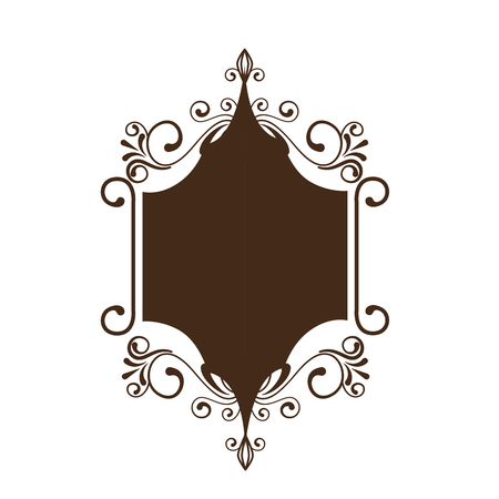decorative vintage frame icon over white background. vector illustration