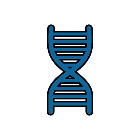Human DNA science vector illustration design icon Illustration