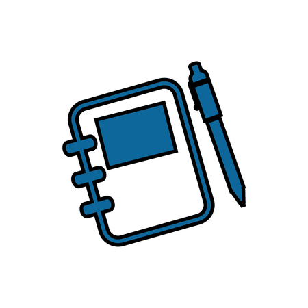 Adress book with pen vector illustration design icon