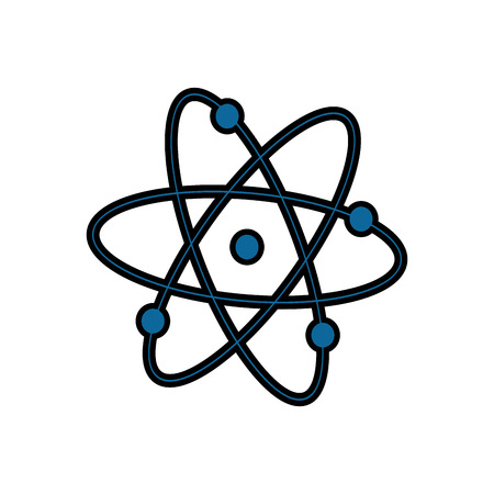 Atom molecule science vector illustration design icon