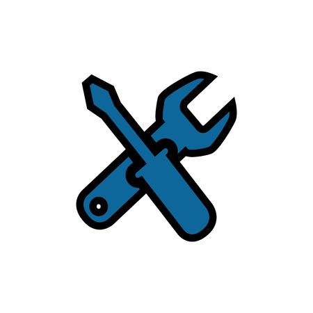vector illustration design icon wrench tool repair