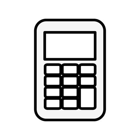 Calculator math device vector illustration design icon