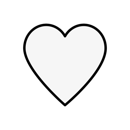 Heart and love vector illustration design icon