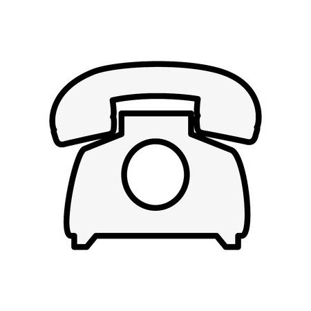 Telephone communication device vector illustration design icon Illustration