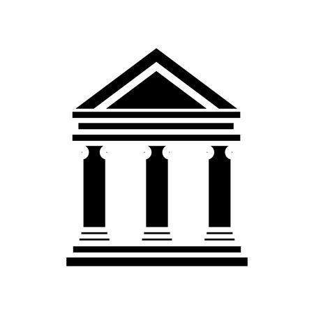Bank van de het pictogram vectorillustratie van het de bouwsymbool grafisch ontwerp