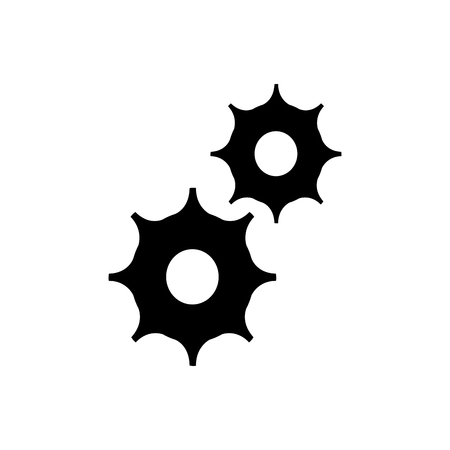 Gears machinery pieces icon vector illustration graphic design Illustration