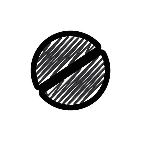 Screw head tool icon vector illustration graphic design 向量圖像