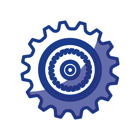 mechanism of progress: Gear machinery piece icon vector illustration graphic design