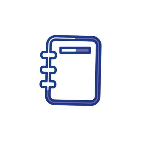 Adress book isolated icon vector illustration graphic design Illustration
