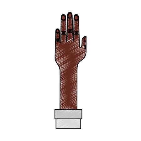 分離のアイコン ベクトル イラスト デザインを人間の手  イラスト・ベクター素材