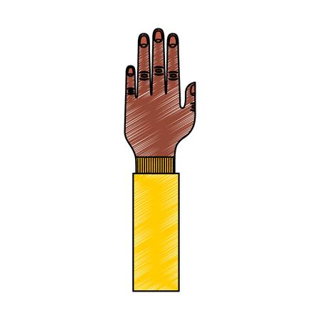 分離のアイコン ベクトル イラスト デザインを人間の手。