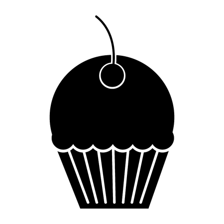 A sweet cupcake isolated icon vector illustration design