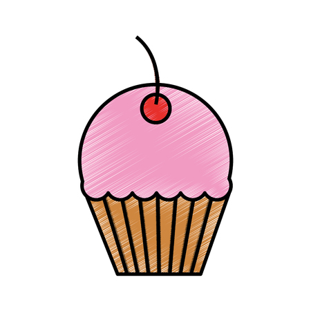 Sweet cupcake isolated icon vector illustration design