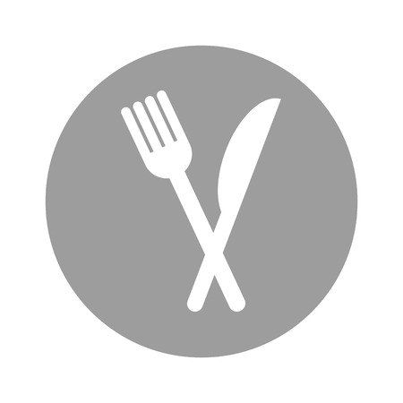 fork and knife isolated icon vector illustration design Иллюстрация