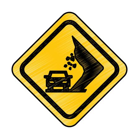 道路交通信号のアイコン ベクトル イラスト デザインの地すべり 写真素材 - 77586862