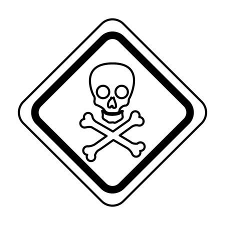 A skull danger sign icon vector illustration design Ilustração
