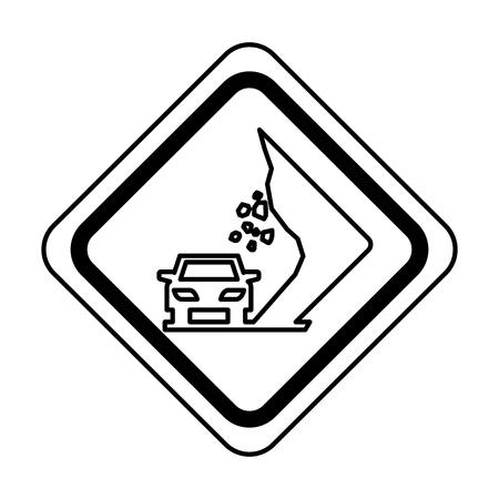 道路交通信号のアイコン ベクトル イラスト デザインの地すべり