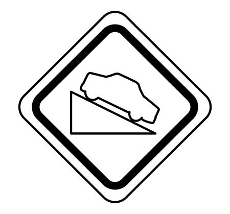 トラック交通信号アイコン ベクトル イラスト デザインに上昇  イラスト・ベクター素材