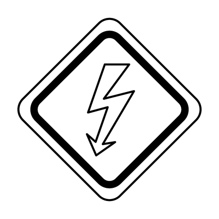 An energy ray caution sign vector illustration design