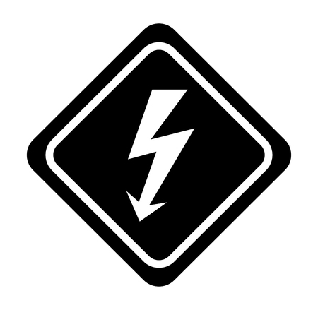 energy ray caution sign vector illustration design