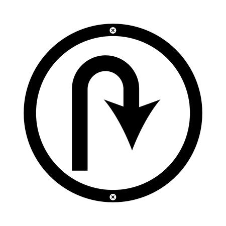 u niveau flèche trafic signal conception vecteur icône illustration